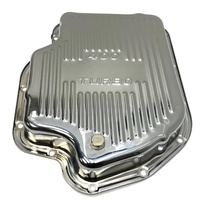 HOLDEN CHEV TURBO 400 HYDRAMATIC CHROMED STEEL TRANSMISSION PAN