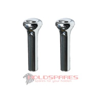 NEW CHROME DOOR LOCK KNOBS UNIVERSAL HOLDEN FORD PAIR