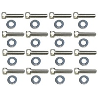 HOLDEN BLUE BLACK V8 INLET MANIFOLD STAINLESS SOCKET HEAD BOLT SET