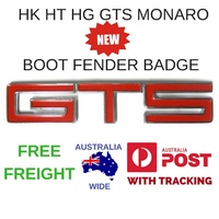 HOLDEN HK HT HG GTS BATHURST MONARO NEW FENDER - BOOT BADGE