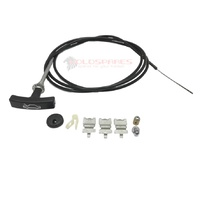 HOLDEN HX HZ NEW REPLACEMENT T HANDLE BONNET CABLE AND CLIP SET