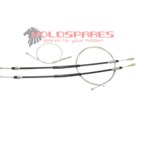 HOLDEN STATESMAN WAGON TO COMMODORE DISC BRAKE REAR NEW BRAKE CABLE SET HQ HJ
