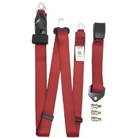 HOLDEN RED SAFETY LAP SASH REAR SEAT BELT REPLACEMENT SEDAN WAGON