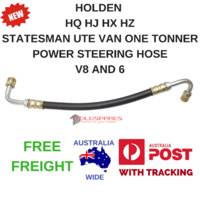 HOLDEN HQ HJ HX HZ POWER STEERING HIGH PRESSURE HOSE V8 AND 6 CYLINDER