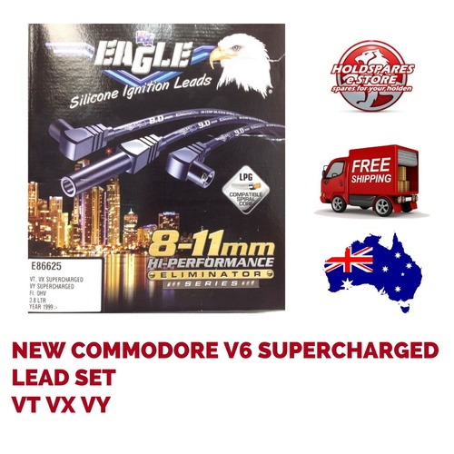 COMMODORE SUPERCHARGED V6 VT VX WH WK EAGLE IGNITION LEADS